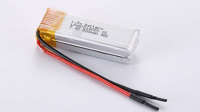 LiPo Battery LPHD7018055 2S 7.4V 520mAh 40C 3.85Wh without protection circuit, with wires 60mm