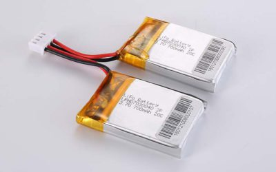 LiPo Battery LPHD7030040 2P 3.7V 700mAh 20C 2.59Wh with protection circuit and wires 30mm and JST XHP-4