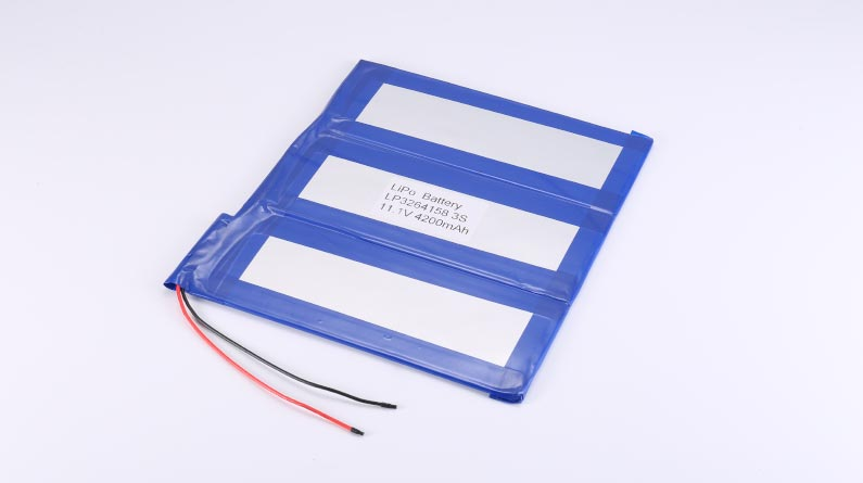 LiPo Battery LP3264158 3S 11.1V 4200mAh 46.62Wh without protection circuit, with wires 100mm