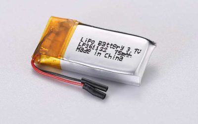 LiPo Battery LP361122 3.7V 75mAh 0.28Wh with protection circuit and wires 10mm