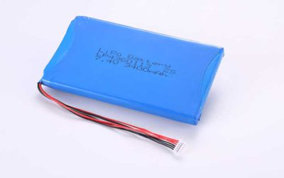 LiPo Battery LP4360113 2S 7.4V 3400mAh 25.16Wh with protection circuit and wires 50mm and Molex 51021-0600