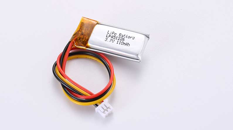 LiPo Battery LP451226 3.7V 110mAh 0.41Wh with protection circuit and wires 50mm and 10K NTC and Molex 51021-0300