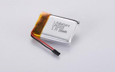 LiPo Battery LP522025 3.7V 200mAh 0.74Wh with protection circuit and wires 20mm