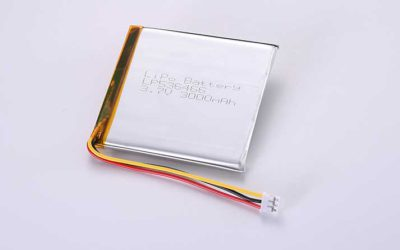 LiPo Battery LP536466 3.7V 3000mAh 11.1Wh with protection circuit and wires 50mm and 10K NTC and JST PHR-3