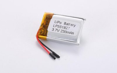 LiPo Battery LP551927 3.7V 230mAh 0.85Wh with protection circuit and wires 15mm