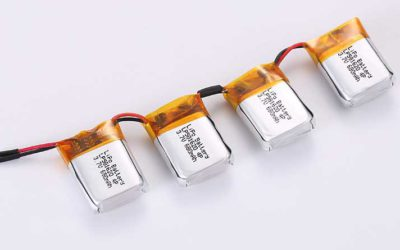 LiPo Battery LP581620 4P 3.7V 680mAh 2.52Wh with protection circuit and wires 20mm