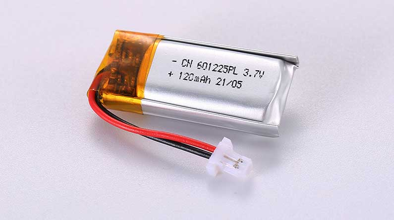 LiPo Battery LP601225PL 3.7V 120mAh 0.44Wh with protection circuit and wires 20mm and JST SHR-02V-S-B