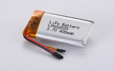 LiPo Battery LP602035 3.7V 400mAh 1.48Wh with protection circuit and wires 20mm and 10K NTC
