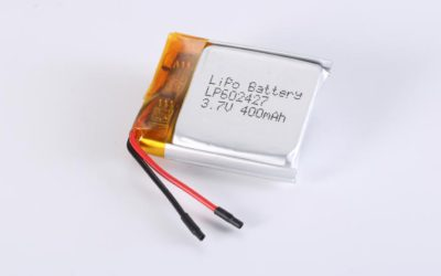 LiPo Battery LP602427 3.7V 400mAh 1.48Wh with protection circuit and wires 20mm