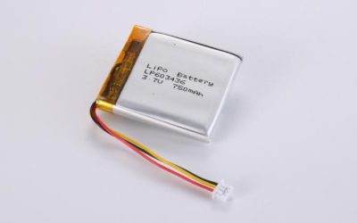 LiPo Battery LP603436 3.7V 750mAh 2.78Wh with protection circuit and wires 50mm and 10K NTC and JST PHR-3
