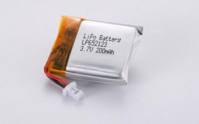 LiPo Battery LP652123 3.7V 200mAh 0.74Wh with protection circuit and wires 10mm and Molex 51021-0200