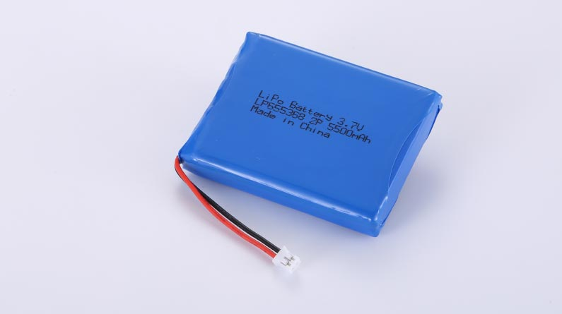LiPo Battery LP655368 2P 3.7V 5500mAh 20.35Wh with protection circuit and wires 50mm and JST PHR-2
