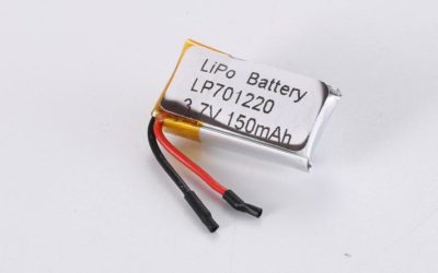 LiPo Battery LP701220 3.7V 150mAh 0.56Wh with protection circuit and wires 15mm