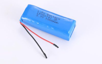 LiPo Battery LP701747 2P 3.7V 1000mAh 3.7Wh with protection circuit and wires 40mm