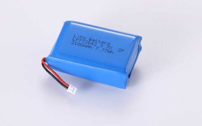 LiPo Battery LP772642 2P 3.7V 2100mAh 7.77Wh with protection circuit and wires 20mm and Molex 51021-0200