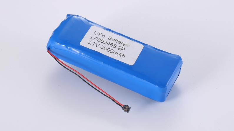 LiPo Battery LP802468 2P 3.7V 3000mAh 11.1Wh with protection circuit and wires 50mm and Molex 78172-0002