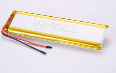 LiPo Battery LP8735125 3.7V 5500mAh 20.35Wh with protection circuit and wires 50mm