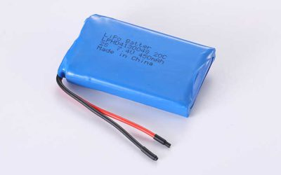 LiPo Battery LPHD4130048 2S 7.4V 450mAh 3.33Wh with protection circuit and wires 50mm