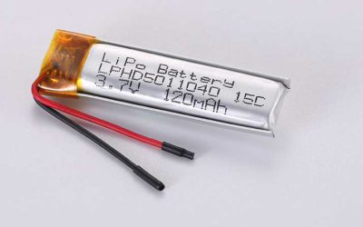LiPo Battery LPHD5011040 3.7V 120mAh 0.44Wh with protection circuit and wires 30mm