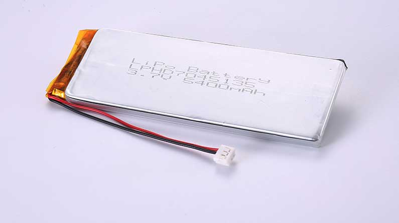 LiPo Battery LPHD7045135 3.7V 5400mAh 19.98Wh with protection circuit and wires 90mm and AMP 179228-3