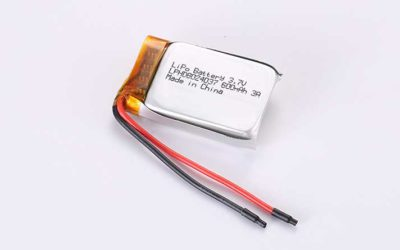 LiPo Battery LPHD8024037 3.7V 600mAh 2.22Wh with protection circuit and wires 50mm