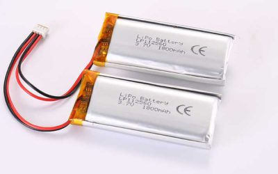 LiPo Battery LP112560 2P 3.7V 1800mAh 6.66Wh with protection circuit and wires 50mm