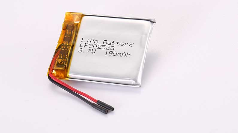 LiPo Battery LP302530 3.7V 180mAh 0.67Wh with protection circuit and wires 25mm
