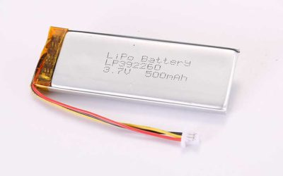 LiPo Battery LP392260 3.7V 500mAh 1.85Wh with protection circuit and wires 50mm and 10K NTC and Molex 51021-0300