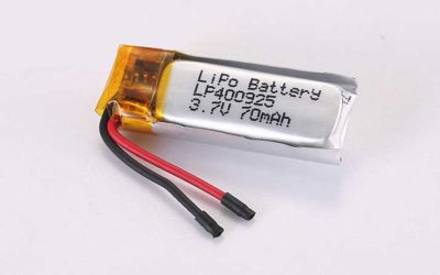 LiPo Battery LP400925 3.7V 70mAh 0.26Wh with protection circuit and wires 15mm