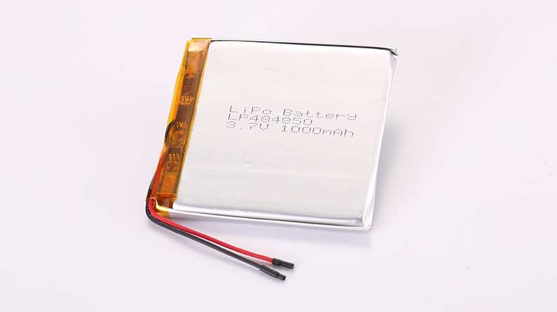 LiPo Battery LP484850 3.7V 1000mAh 3.7Wh with protection circuit and wires 35mm