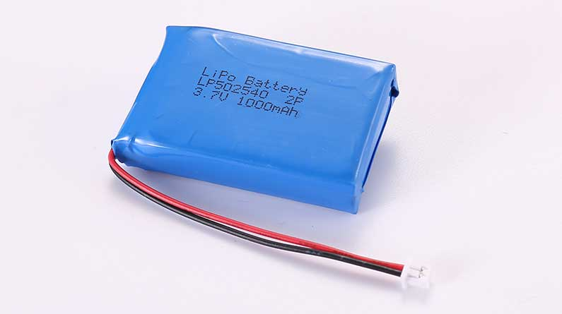 LiPo Battery LP502540 2P 3.7V 1000mAh 3.7Wh with protection circuit and wires 50mm and Molex 51021-0200