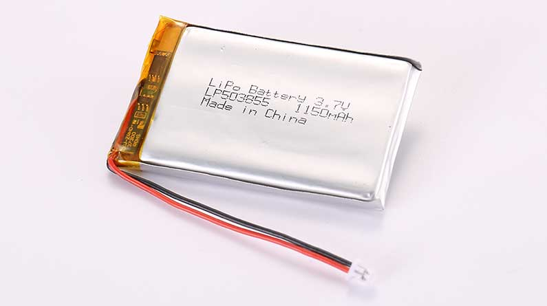 LiPo Battery LP503855 3.7V 1150mAh 4.26Wh with protection circuit and wires 50mm and Molex 51021-0200