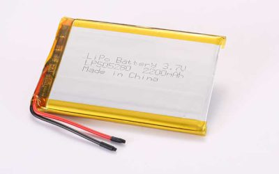 LiPo Battery LP505280 3.7V 2200mAh 8.14Wh with protection circuit and wires 40mm