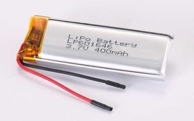 LiPo Battery LP601646 3.7V 400mAh 1.48Wh with protection circuit and wires 35mm