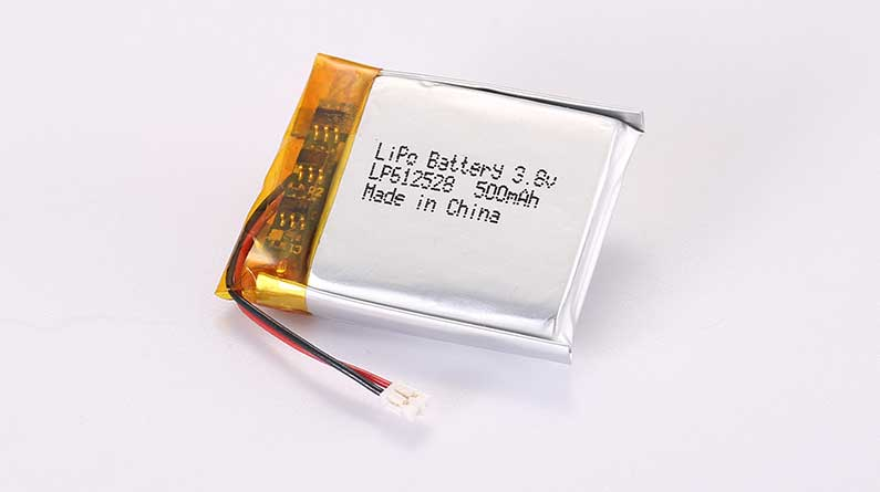 LiPo Battery LP612528 3.7V 500mAh 1.85Wh with protection circuit and wires 15mm and JST ACHR-02V-S