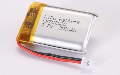 LiPo Battery LP702030 3.7V 300mAh 1.11Wh with protection circuit and wires 30mm and Molex 51021-0200