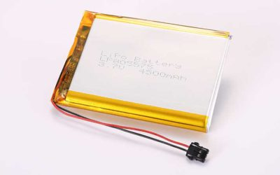 LiPo Battery LP805575 3.7V 4500mAh 16.65Wh with protection circuit and wires 30mm and Molex 2053410202