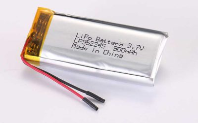 LiPo Battery LP952245 3.7V 900mAh 3.33Wh with protection circuit and wires 25mm