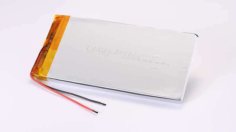 LiPo Battery LPA695183 3.7V 22000mAh 81.4Wh with protection circuit and wires 100mm